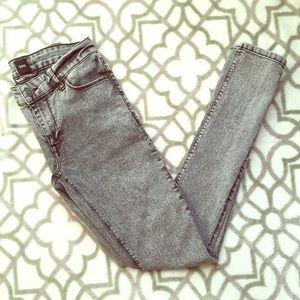 Asos Extreme Super Skinny Acid Wash Jeans